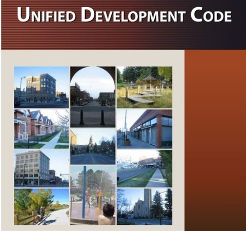 An image of the Unified Development Code cover